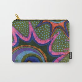Starburst and polkadots batik Carry-All Pouch