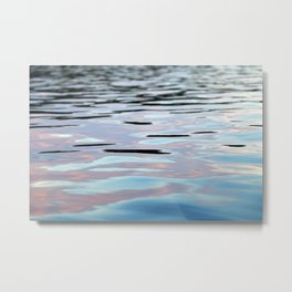 Pink, Lavender, and Blue Water Abstract Metal Print
