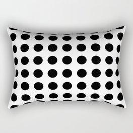 Simply Polka Dots in Midnight Black Rectangular Pillow