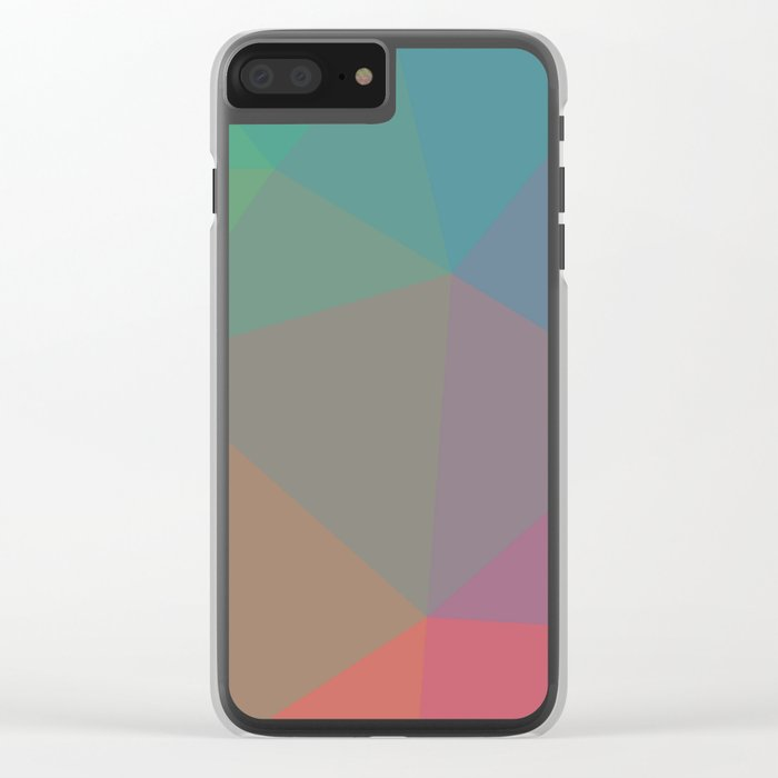 Polygon art 07 Clear iPhone Case