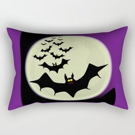 Bats and Moon Rectangular Pillow