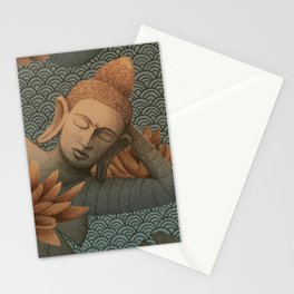 sleeping Buddha with lotus 2 Stationery Cards