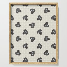 Hand drawn cute greyhouse race puppy face. Serving Tray
