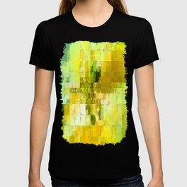 Pale Yellow Poinsettia 1 Abstract Circles 2 T-shirt