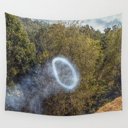 Cannon Smoke Ring Wall Tapestry