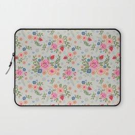 Embroidered Flowers - Light Laptop Sleeve