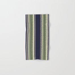 Navy blue and sage green stripes Hand & Bath Towel