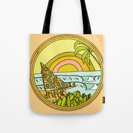 drifting to paradise surf art by surfy birdy Tote Bag