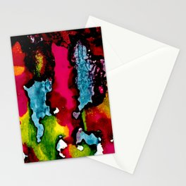 Primary Psychedelic Melt Down Stationery Cards