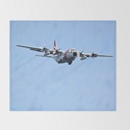 Coast Guard C130 Photography Print Throw Blanket