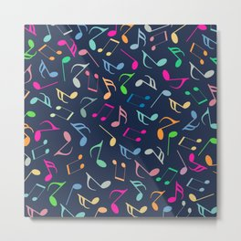 Music Colorful Notes III Metal Print