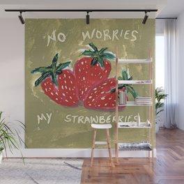 My Strawberries Wall Mural