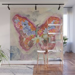 Floral Butterfly Wall Mural