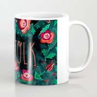 folk Mugs featuring Folk by Plantus Marina