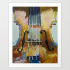 Violin Painting Art Print