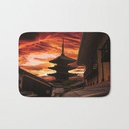 Kyoto sunset Bath Mat