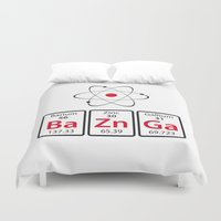 bazinga Duvet Covers featuring BaZnGa! by Andrew Treherne