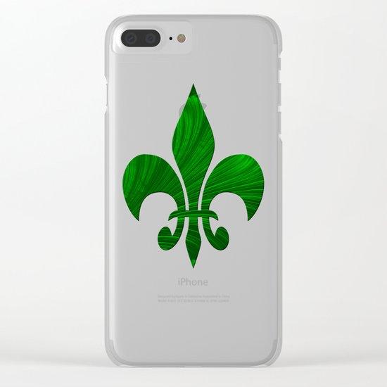 Renaissance Green Clear iPhone Case
