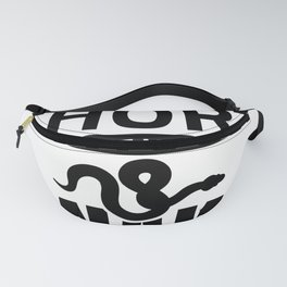 Snake life is short   Reptile gift ideas Fanny Pack