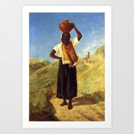 Woman Carrying a Pitcher on Her Head Art Print