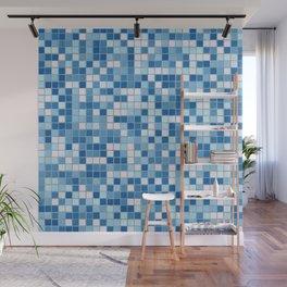 Blue Pool Squares Wall Mural