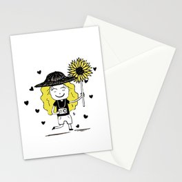 Little Miss Sunflower Stationery Cards