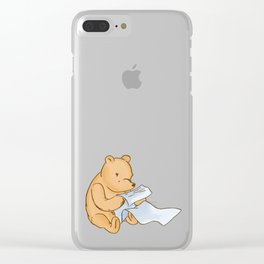 Pooh Reading Clear iPhone Case