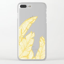 Banana Leaves on Yellow #society6 #decor #buyart Clear iPhone Case