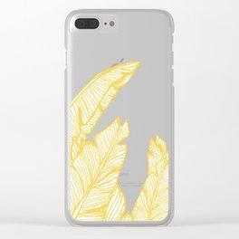 Banana Leaves on Yellow #society6 #decor #buyart Clear iPhone Case