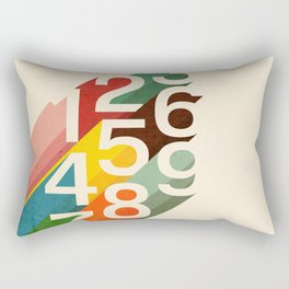 Retro Numbers Rectangular Pillow