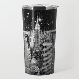 Starry Night in New York Travel Mug
