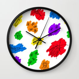 Uninvited Guests - Black Outline Wall Clock
