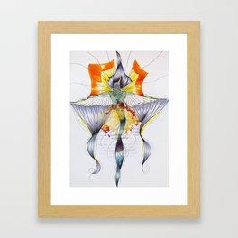 The Sun on Earth Hummingbird Framed Art Print