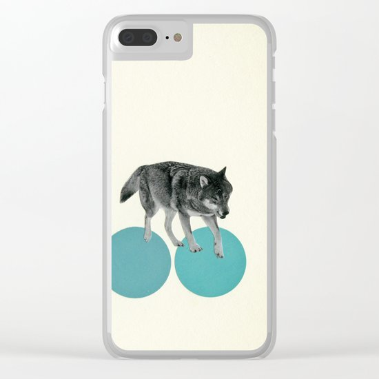 Hungry Wolves Clear iPhone Case