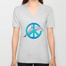 Dolphin Peace Unisex V-Neck