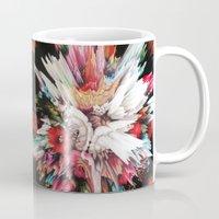 glitch Mugs featuring Floral Glitch II by Kate Tova