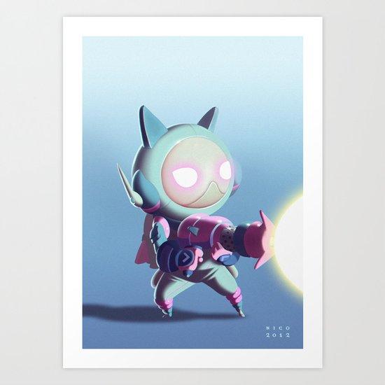 Kaptain Katz Art Print