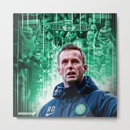 Ronny Deila and The Bhoys Metal Print