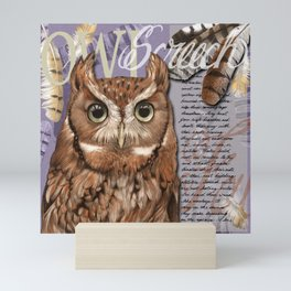 The Screech Owl Journal Mini Art Print