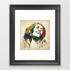 Reggae Music Man Framed Art Print