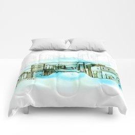 Street sketch Comforters