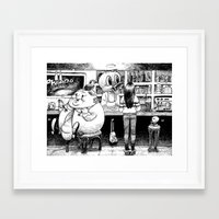cheese Framed Art Prints featuring Cheese. by Samuel Guerrero