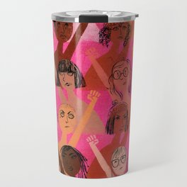 Rise up with fists! Travel Mug