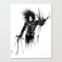 edward scissorhands Canvas Prints featuring Edward Scissorhands by Karbon-K