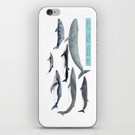 Happy world whale day iPhone Skin