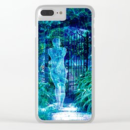 Blue Spirit Clear iPhone Case