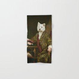 Portrait of a civilized Westie Hand & Bath Towel