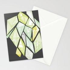 green diamonds Stationery Cards