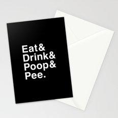 Eat & Drink & Poop & Pee. Stationery Cards