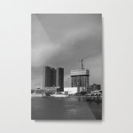 stormy waterfront Metal Print